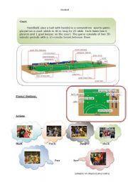 English Worksheets: Handball