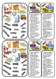 English Worksheets: Food skills activity