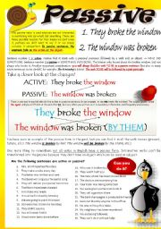 English Worksheet: PASSIVE VOICE (Part I)