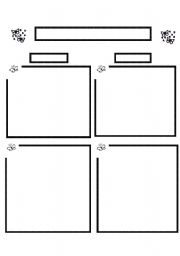 English Worksheets: Butterflies Template