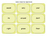 English Worksheets: Dolch Grade Two Sight Words