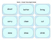 English Worksheets: Dolch Grade Three Sight Words