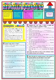 English Worksheet: Relative Pronouns: who / that • grammar guide • examples • 3 tasks • B&W version • handout with keys • 3 pages • fully editable