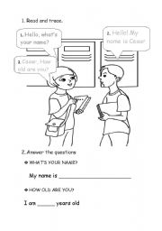 English Worksheets: What is your name ?