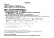 English Worksheets: THINGS