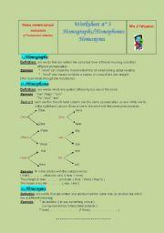 English Worksheet: Idioms & Homophones