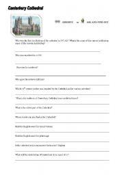 English Worksheets: let�s visit Canterbury Cathedral