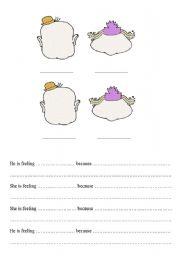 English Worksheets: Feelingsand facial expressions
