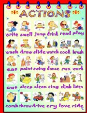 English Worksheet: ACTIONS!
