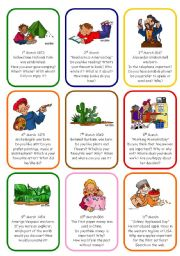 English Worksheets: WRITING OR SPEAKING CARDS - MARCH