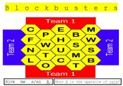English Worksheet: Blockbusters board