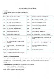 English Worksheet: Transitive verbs
