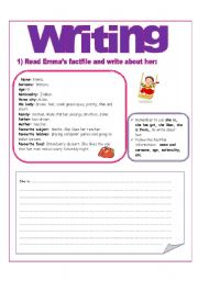 English Worksheets: WRITING PRACTISE FOR KIDS