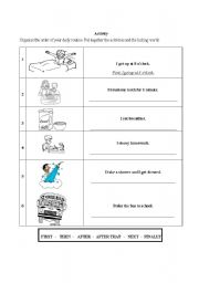 English Worksheet: daily routine plus actions
