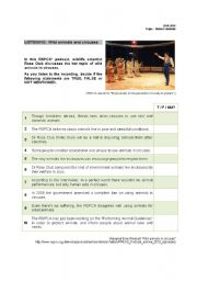 English Worksheets: Circuses and animals