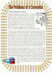 English Worksheets: The Problems of a Commuter - 6 tasks + answer key