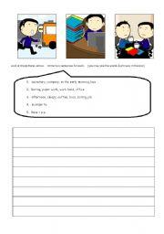 English Worksheets: Work