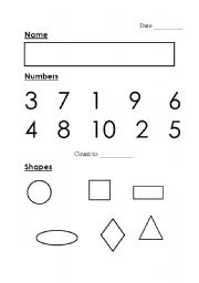 image about Kindergarten Assessment Tests Printable identify English worksheets: Kindergarten Investigation