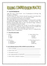 Reading Comprehension practice for 7th graders. - ESL ...