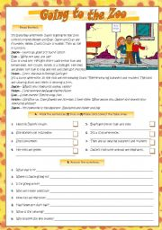 English Worksheet: GOING TO THE ZOO