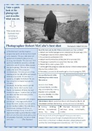 English Worksheets: A photographer�s best shot!