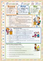 English Worksheet: Some, Any & No � rules, examples and exercises � editable � keys included � 2 pages