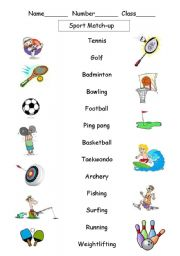 English teaching worksheets: Sports