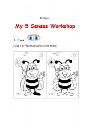 English Worksheets: 5 Senses Workshop