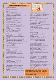 English Worksheets: katy perry- california girls