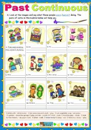 English Worksheets: Past Continuous