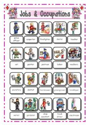 English Worksheets: Jobs and occupations - Pictionary