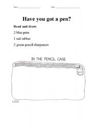 English Worksheets: Have you got a pen?