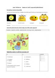 English Worksheet: a brainstorming activity for 3 grade
