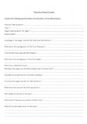 English worksheet: Famine by sinead O´ connor