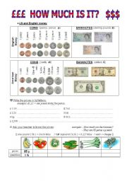 English Worksheets: At the grocer�s.