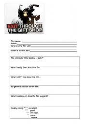 English Worksheets: Exit through the gift shop a film by BANKSY
