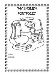 English Worksheets: My English Portfolio 1/2