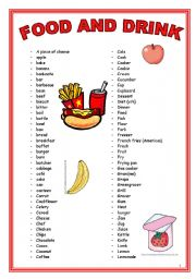 food drink vocabulary drinks worksheet worksheets english esl exercises eslprintables preview