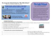 English Worksheet: FuNnY SchOOl RuLeS  - debate : which school do you prefer? *KEY ANSWERS INCLUDED + Fully Editable*