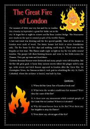 The Great Fire of London - Reading Comprehension