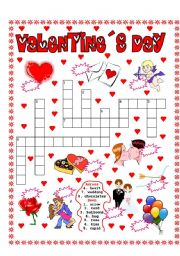 VALENTINE´S DAY PUZZLE AND NUMBER THE PICTURES - ESL ...