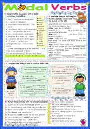 English Worksheet: Modal Verbs  (1)