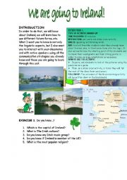 English Worksheet: WE ARE GOING TO IRELAND!