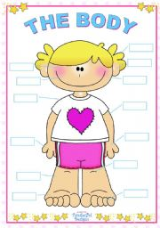 English Worksheets: The Body (for girls)