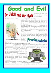 English Worksheets: GOOD AND EVIL