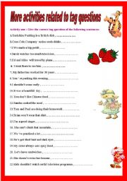 English Worksheets: Tasks about tag questions