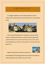 English Worksheets: cappadocia