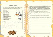 English Worksheet: The Silly Baker - Should have done