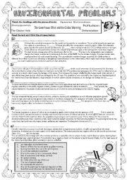 English Worksheets: Environmental Problems