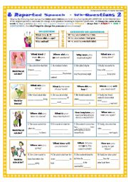 English Worksheet: 8 REPORTED SPEECH - WH-QUESTIONS 2